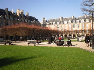 Place des Vosges during Winter time