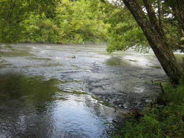 The Hiwassee River in front of the cabin