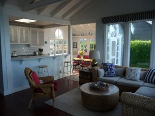 Bodega Bay cottage photo - Living room, kitchen, and dining room