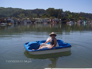 Sausalito house boat photo - Use our peddle boat at no extra cost