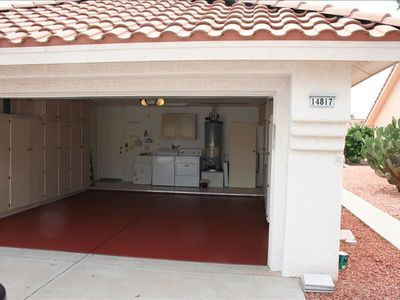 2-Car Garage with Apoxy Floor, Washer/Dryer, Water Softner, & Plenty of Stor