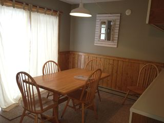 Jay Peak condo photo - Custom Fir Wainscoting and trim in dining area also.