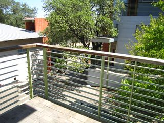 Balcony attached to kitchen/living - Austin house vacation rental photo