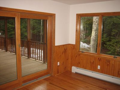 Sliding Glass Door to a 25' Screen Porch