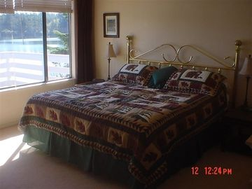 The Upstairs Master Bedroom Has A King Size Bed