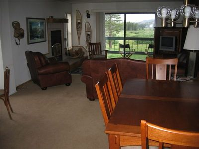 Living area/Dining area, spring time