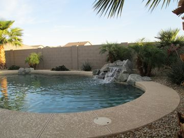 Casa Grande house rental - Peaceful Back Yard with heated salt water pool