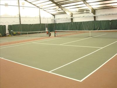 Indoor Tennis Courts! (Outside courts, too!)