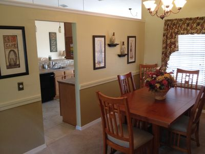 Dining room is convenient to the kitchen