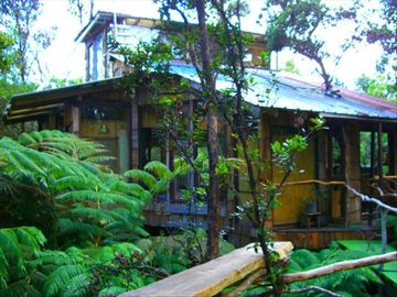Opihihale cabin rental - 1,000+ square feet of luxury treehouse living. Sleeps 6.