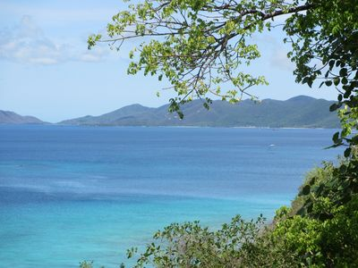 View from your deck to the north shore of St John