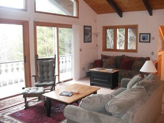 Bartlett chalet photo - Very bright living area with slider going out to deck .