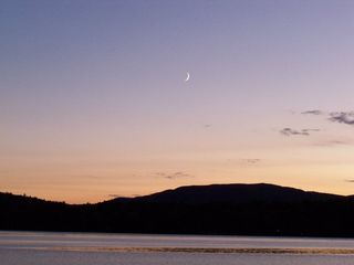 Newfound Lake cottage photo - Nothing beats the moon shining over the lake.