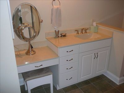 Master bath with make-up area