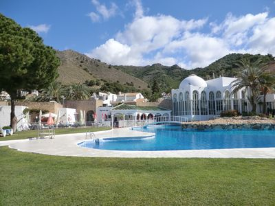 San Juan de Capistrano villa rental - Main pool showing poolside bars