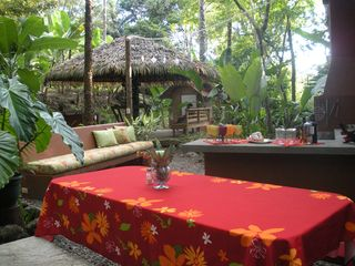 Quepos cabin photo - Enjoy Nature while you cook in the Outdoor Living Space