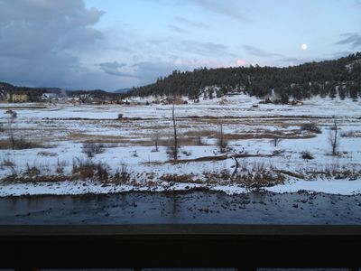 Pagosa Springs townhome rental - Full moon on a winters night