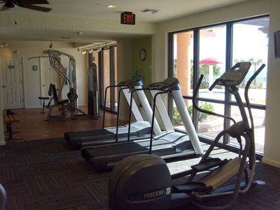 Ocean front fitness center located In the Center Tower