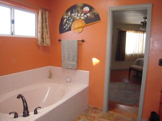 Coronado house photo - Master Bath has Separate tub and shower plus New Tuscan Bronze Fixtures