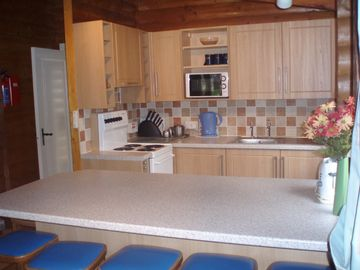 Hendwr Scandinavain Lodges, Llynor Kitchen