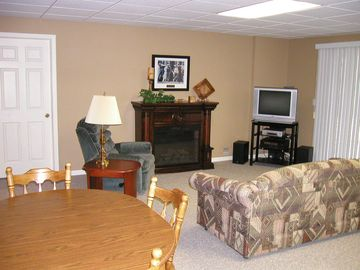 lower level family room area