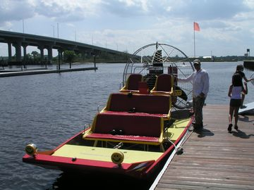 Hire an airboat, wave runner or fishing boat! Ride the intracoastal to St. Aug.!