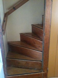 This old house has an original Winder Stairs (Railings included!)