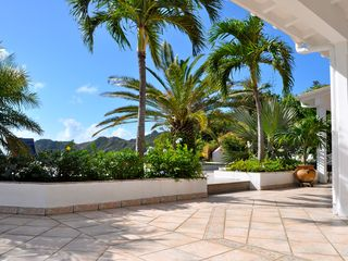 St Barthelemy villa photo - The terrace and mountain view