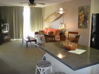 Kihei condo photo - View from kitchen towards lanai