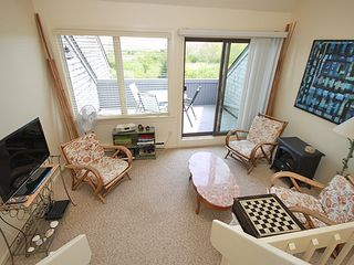 Hyannis - Hyannisport condo photo - Den overlooking deck, one of two HD TV