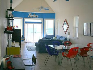 St George Island cottage photo - Main Living Area with view of Beach