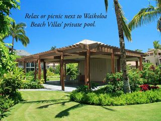 Waikoloa Beach Resort townhome photo - Relax or picnic next to one of Waikoloa Beach Villas' private pools.