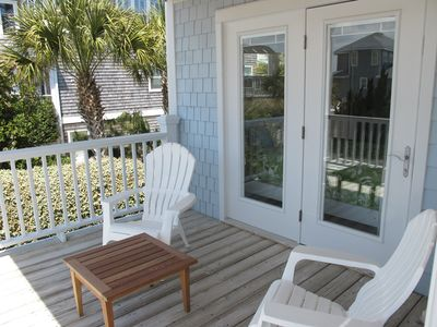 Wrightsville Beach house rental - Bedroom Deck www.Seascapevacationhomes.com