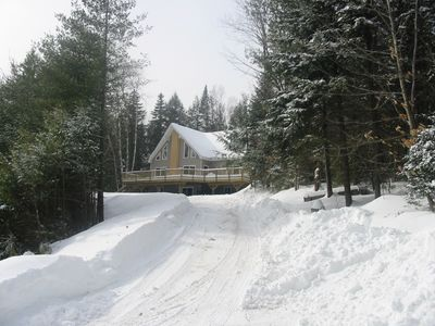 West Wardsboro house rental - A winter view from the road