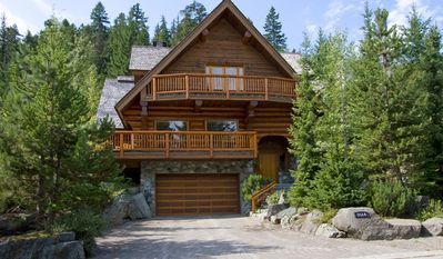 Exterior View of Whistler Log Cabin in Summer