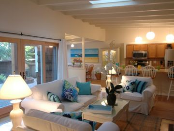 """Carmel house rental - Welcome to """"Casa Felice""""! Charming and beautifully furnished Carmel-by-the-Sea beach home. Withing easy walking distance to gourmet restaurants and unique high-end shopping and galleries."""