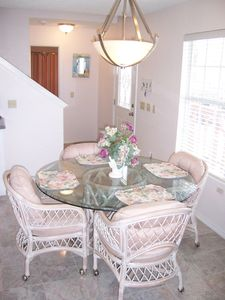 Port Isabel cottage rental - Dining area for 4 and breakfast bar for 2