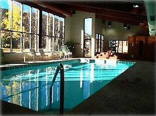 The Large Indoor Pool, Sauna & Jacuzzi in the Ski Run Club House