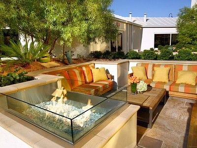 Las Vegas condo rental - Terrace with Fire Pit