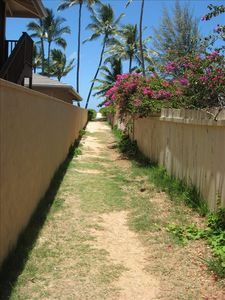 Private beach path just steps from the studio