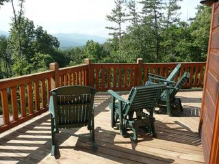 Blue Ridge cabin photo - You could be sitting in these chairs right now!