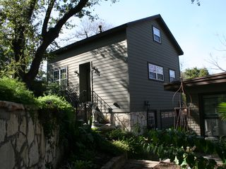 Studio entrance is on the side. - Austin studio vacation rental photo