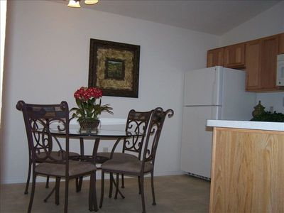 Full size table and 4 chairs in kitchen