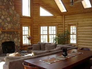 New Buffalo cabin photo - Great Room (Wood Burning Fireplace) with room for 12