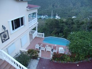 Marigot Bay villa photo - Drive Way & Pool