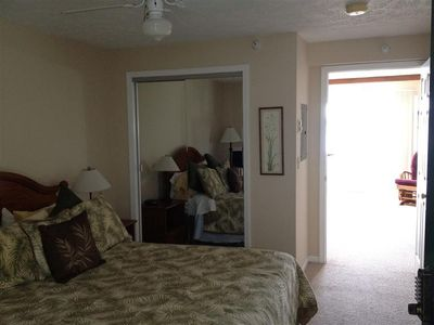 Onekama condo rental - Queen bed with closet, seperate bedroom
