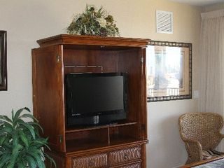 Clearwater Beach condo photo - Cabinet with TV and Stereo / Master Bedroom.