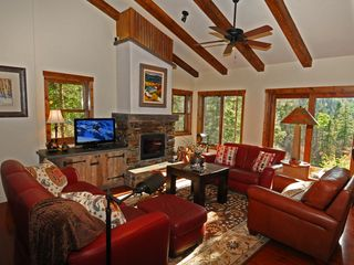 Taos Ski Valley house photo - Great room: relax with a fire and sunset views