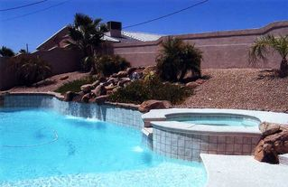 Lake Havasu City house photo - Beach entry into the pool