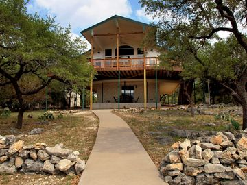 Lago Vista house rental - Gorgeous Lake Travis Waterfront Home with WiFi, Private Boat Dock & DEEP WATER